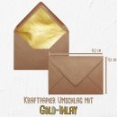 Foto-Puzzle 24 Teile / Love / inkl. Verpackung Kraftpapier Umschlag mit Gold-Inlay / mit VIER Bildern bedrucken lassen