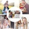 Foto-Puzzle 24 Teile / Collage Ich liebe dich / inkl. Verpackung Kraftpapier Umschlag mit Gold-Inlay / mit Zwei Bildern bedrucken lassen
