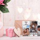 Foto-Puzzle 24 Teile / Collage Ich liebe dich / inkl. Verpackung Kraftpapier Umschlag mit Gold-Inlay / mit DREI Bildern + Namen bedrucken lassen