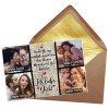 Foto-Puzzle / 24 Teile / Collage Ich liebe dich / inkl. Verpackung Kraftpapier Umschlag mit Gold-Inlay / mit VIER Bildern bedrucken lassen